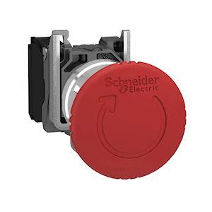 Harmony XB4 - bouton arrêt urgence - pousser tourner - 1O - rouge - D=40