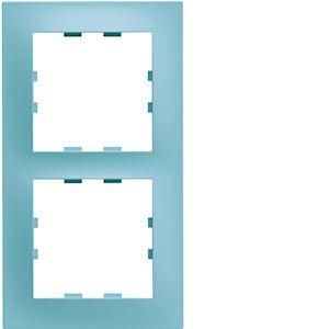 Kallysta pop plaque 2 postes verticale entraxe 71 coloris Lagon