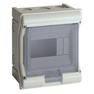 Coffret étanche vector IP55 1 rangée 4+2 modules h 190mm l 165mm