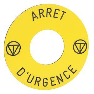 Harmony ZB6 - étiquette - D=16 - D=45mm - ARRET D'URGENCE