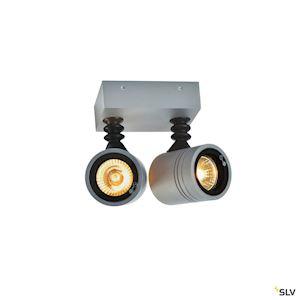 MYRA WALL, 2 spots, applique, gris argent, 2xGU10, max. 2x50W, IP55