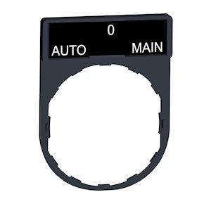 Harmony - porte-étiquette 30x40 + étiquette 'AUTO-O-MAIN' 8x27 - blanc/noir