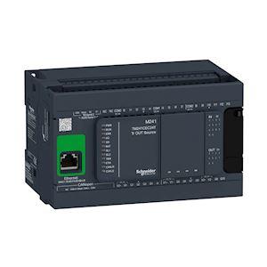 Modicon M241, contrôleur 24E/S PNP, ports Ether+CAN+2 série, 24VCC