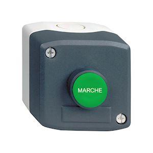 Harmony XAL - boite 1 bouton poussoir affleurant vert D=22 marqu 'MARCHE' - 1F