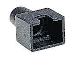 Manchon noir pour fiches RJ45 pour câble rond