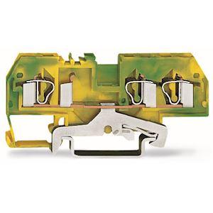 Borne de protection 3C / 4 mm² / CFMC / Vert-Jaune