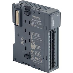 Modicon TM3, module 4 sorties analogiques, -10-0-10V, 0/4-20mA, à vis