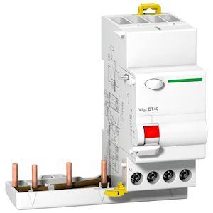 ProDis vigi DT40 - bloc différentiel - 3P+N 25A 30mA instanta type AC 400-415Vca