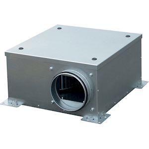 Caisson de ventilation extra-plat, 500 m3/h, hauteur 23 cm, D 160 mm
