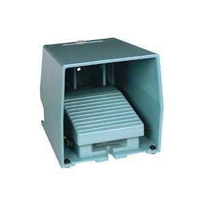 Preventa XPEM - inter. à pied - simple - avec capot - métal.- bleu - 2O+2F