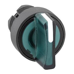 Harmony XB5 - tête bouton à manette lumineux - D=22 - 3 pos fix - vert