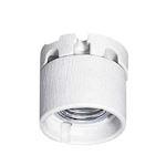 Douille en porcelaine éclairage public avec frein culot E27 et jupe protection