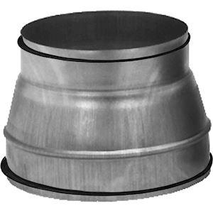 Réduction conique en acier galvanisé à joint, raccordement D 250/160 mm