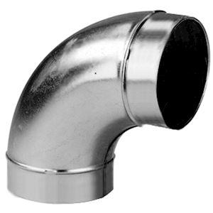 Coude mâle/mâle à 90DEG acier galvanisé diamètre de raccordement 125 mm