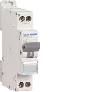 Disjoncteur 1P+N 3kA C-16A 1 Module
