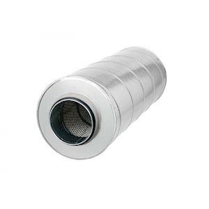 Silencieux acier galvanisé, longueur 700 mm, D de raccordement au réseau 355 mm