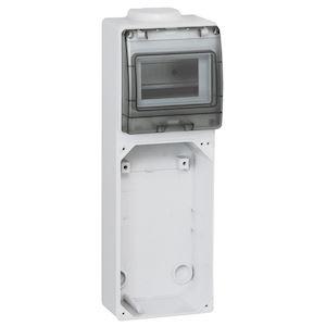 EMBASE 125X220 AVEC RAIL DIN
