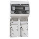 Embase P17 - recevant plastron 280x125 - rail 12 modules - 6 socles 16A