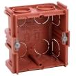 Boîte monoposte Batibox - maçonnerie - carrée associable - prof. 40 mm
