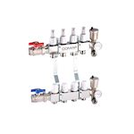 V9006 STAINLESS STEEL MANIFOLD 5 CIRCUITS ASSEMBLED EQUIPED