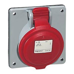 SOCLE TABLEAU 32A 4P+T 380/415V IP44