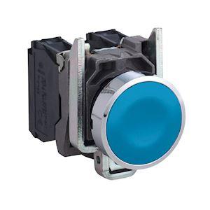 Harmony XB4 - bouton poussoir - affleurant - 1F - D=22 - bleu