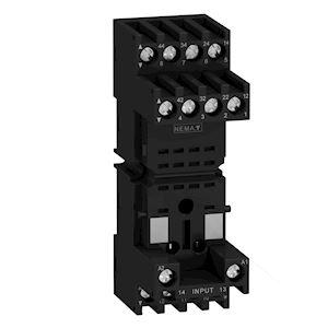 Zelio RXZ - embase pour relais miniature - avec contacts mixtes - connecteurs