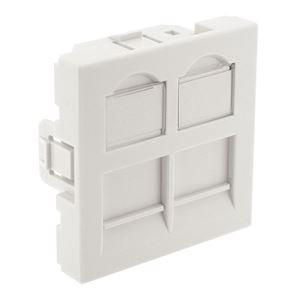 PLASTRON DROIT 2PORTS 45X45 BLANC