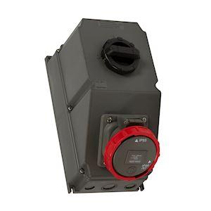 COFFRET 63A 4P+T 400V 66/67-55