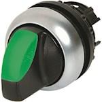 Commutateur rotatif lumineux, 3 positions, vert, à accrochage