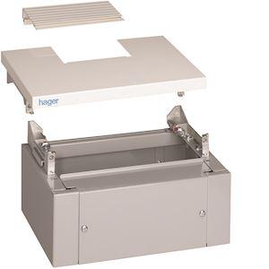 Kit panneaux tête et base quadro4 p 260mm h 250mm l 370mm IP40 IK08 RAL7042 gris