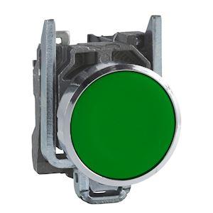Harmony XB4 - bouton poussoir à impulsion - D=22 - vert - 1F - vis étrier