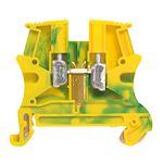 Bloc jonction Viking3 à vis - 1 jonction/1entrée/1 sortie - vert/jaune - pas 6