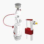 Soupape dualtech 2 + robinet sr+ boite surverse centrale 3/6 litres