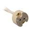 Douille stéatite G4-GU5,3-G6,35 + fils 2x0,75mm² 15cm