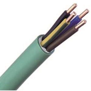 Câble FR-N1X1G1 LSOH sans halogène cuivre 3G2,5 classe 1 vert à la coupe