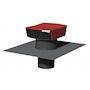 Chapeau de toiture plastique, D 125 mm, rejet 320 m3/h, asp 170 m3/h, tuile