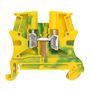 BLOC A VIS  POUR CONDUCT.DE PROTECTION 1  JONCTION  6 MM2 (PAS 8 MM) PIED METAL