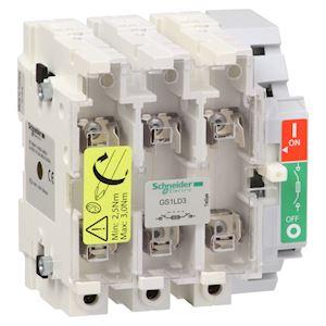 TeSys GS1 - bloc de base interrupteur-sectionneur fusible - 3P 3F - DIN - 160A