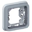 Support plaque - pour encastré Prog Plexo composable Gris - 1 poste