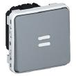 Inter temporisé lumineux Prog Plexo composable Gris - 230V - 50/60 Hz