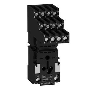 Zelio Relay RXM - embase RXM4 - contacts séparés - raccord vis étrier