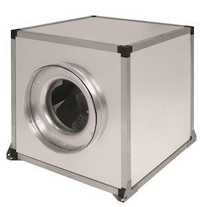 Caisson de ventilation tertiaire double peau, 4210 m3/h, D400 mm, tri 230/400V