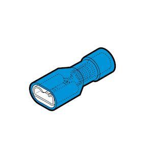 Clip complètement isolé femelle bleu (1,5 à 2,5 mm²) - 6,3 x 0,8 mm en boite pla