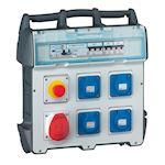 Coffret de chantier P17 - IP44 IK09 - 40A 400V~ - 4 prises NFC + 1 prise 3P+N+T