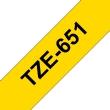 Ruban TZe651, 24mm Noir sur fond Jaune, Laminé, 8M