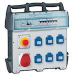 Coffret de chantier P17 - IP44 IK09 - 40A 400V~- 6 prises NFC + 1 prise 3P+N+T