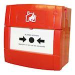 Déclencheur manuel rouge incendie filaire
