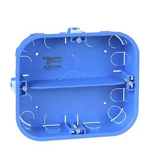 Multifix - boîte - 6 postes - 165x142mm - prof. 40mm - 2 rangées de 3 postes