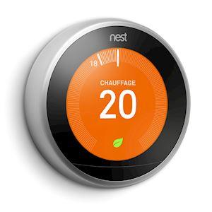 Nest Learning Thermostat, 3ème Génération, Acier Inoxydable